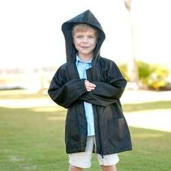 Personalized Kids' Black Rain Jacket
