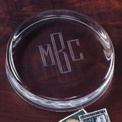 Signature Crystal Personalized Paperweight