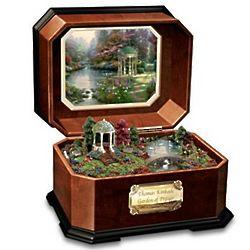 Thomas Kinkade Garden of Prayer Collectible Wooden Music Box