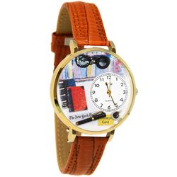 Book Lover Large Gold Watch