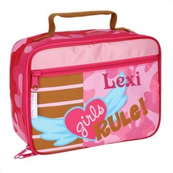 Personalized Square Girls Rule Lunch Box
