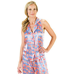 Silk Rose Sleeveless Pajamas