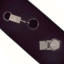 Silver Round Money Clip and Keychain Gift Set