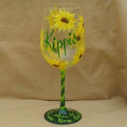 Cheers Hand Painted Wine Glass