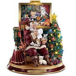 Meowy Christmas Santa Figurine