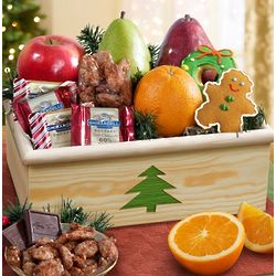 Holiday Tree Fruit and Sweets Crate
