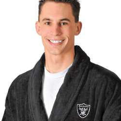 Oakland Raiders Terrycloth Black Bathrobe