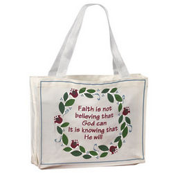 Faith is Knowing That He Will Tote Bags