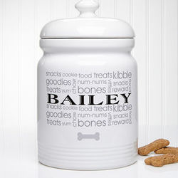 Personalized Doggie Delights Treat Jar