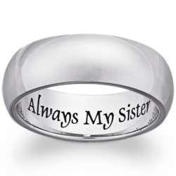 Stainless Steel Always My Sister Sentiment Band