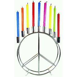 Peace Sign Menorah