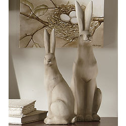 Terra Cotta Rabbit Figurines