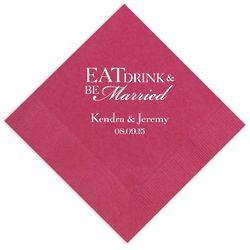 Eat, Drink, and Be Married Party Napkins