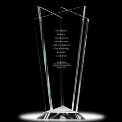 Achievement Is Everything Personalized Crystal Vase