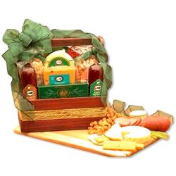 Cheese and Sausage Gourmet Gift with Cutting Board