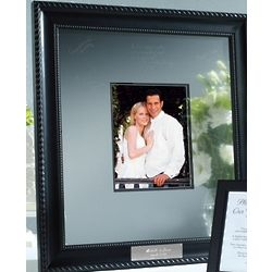 Personalized Etched Signature Guest Book Frame