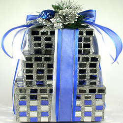 Glittery Gift Tower of Tasty Kosher Sweets
