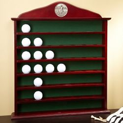 Wooden Golf Ball Display Cabinet