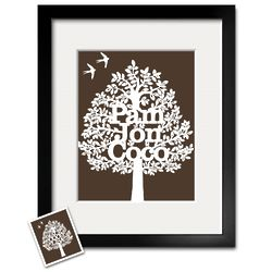 Personalized Paper Cut Family Tree Framed Print