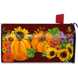 Fall Glory Floral Magnetic Mailbox Cover