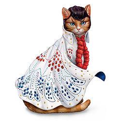 Heartbreak Furr-tel Elvis Presley-Inspired Cat Figurine