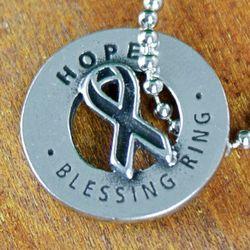 Hope Blessing Ring Pewter Pocket Token