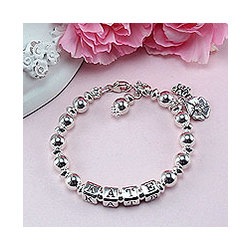 Sterling Gemstone Birthstone Bracelet