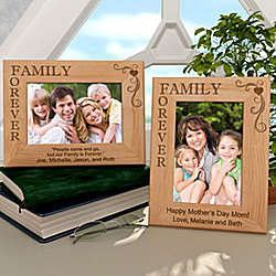 Personalized Our Family is Forever Wooden Picture Frame