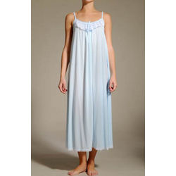 Lace Trim Ankle Length Nightgown