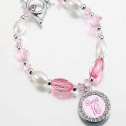 Sweet 16 Frame Charm Bracelet