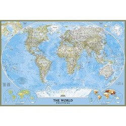 Laminated Classic Poster Size World Political Map