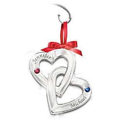 Perfect Love Personalized Birthstone Ornament