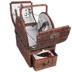 Extra Large Willow Picnic Basket Set for 2