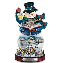 Thomas Kinkade Twas The Night Before Christmas Snowman Figurine