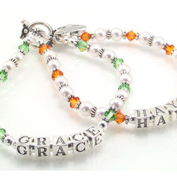 "The ""Grace/Hayden"" Swarovski and Sterling Silver Mother Bracelet"