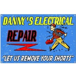 Personalized Vintage Electrician Sign