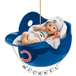 Chicago Cubs Baby's First Christmas Ornament