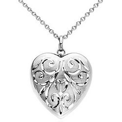Sterling Silver Hand Engraved Heart Locket