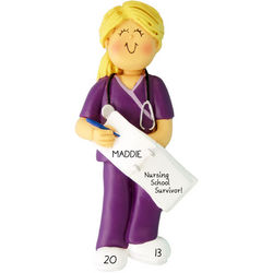 Personalized Nurse Graduation Ornament