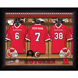 Personalized Rutgers Scarlet Knights Football Locker Room Sign