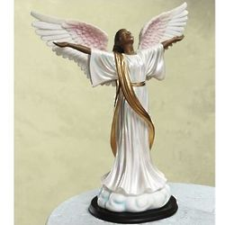 Glory To God African American Angel Figurine