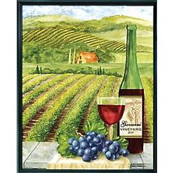 Personalized Framed Vineyard Canvas