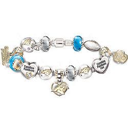 Go Panthers! #1 Fan Charm Bracelet