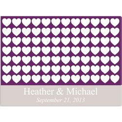 Heartful Wishes Signature Guest Book Canvas Print