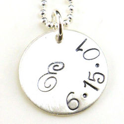 Personalized Initial and Date Petite Necklace