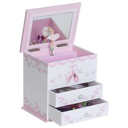 Angel Ballerina Musical Jewelry Box