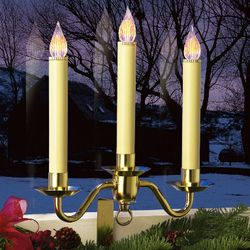 Brass Cordless LED Window Bracket Candelabra