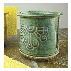 Green Patina Ceramic Sponge Holder