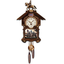 Hour Of Glory Collectible Civil War Cuckoo Clock