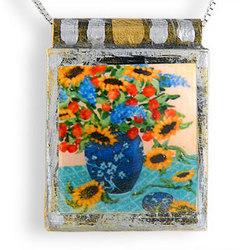 Sunflower Still Life Necklace